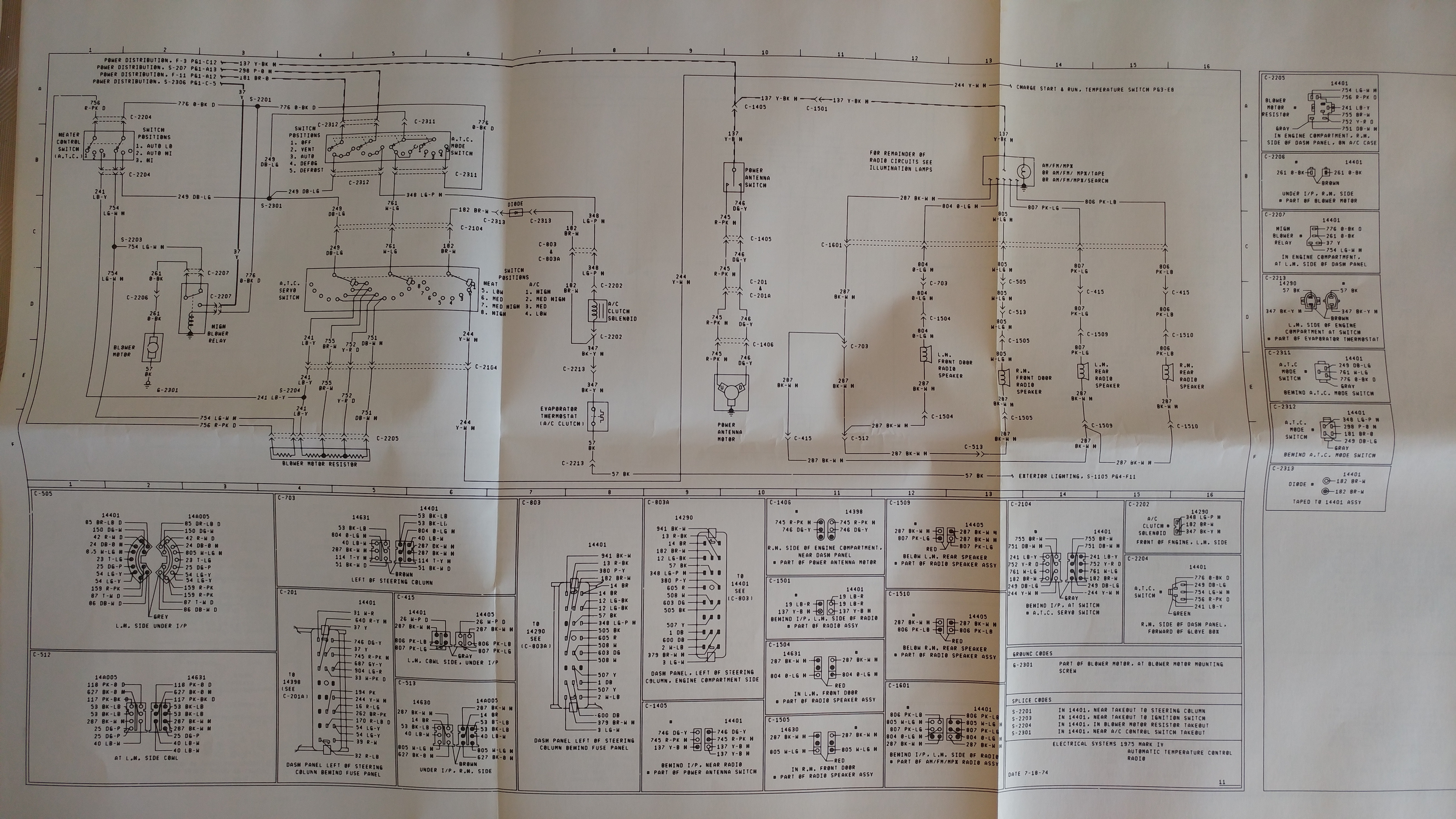 Selectric Typewriter Museum Cars 1975 Mark Iv Lincoln Wiring Schematic Diagram Page 11