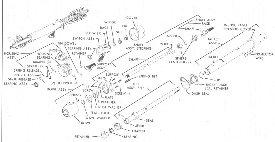 vantilt02 cpp 500 power steering column mods page 3 trifive com, 1955 1956 chevy steering column wiring diagram at n-0.co